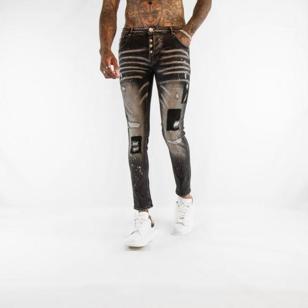 Black Bleached Jeans