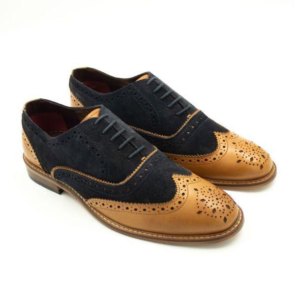 Cavani Duke Navy Tan Formal Shoes