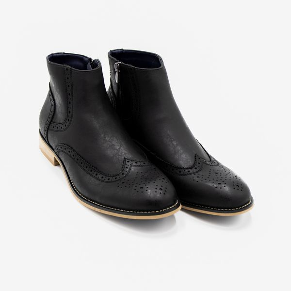Westland Black Faux Leather Boot