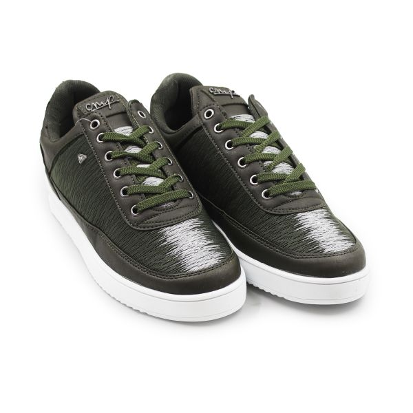 Eclipse Khaki And Silver Cash Money Trainers