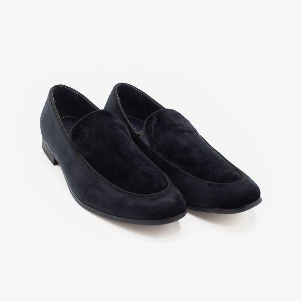 Milan Black Velvet Loafers