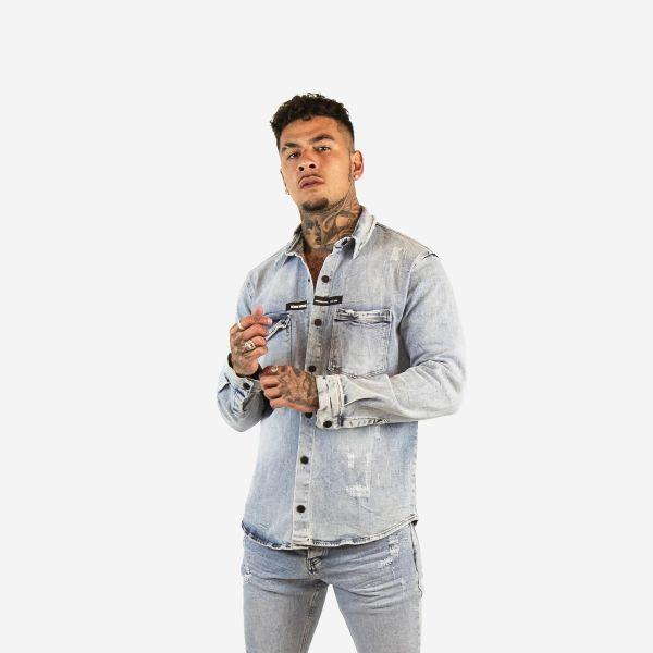 Light Blue Button Down Denim Shirt