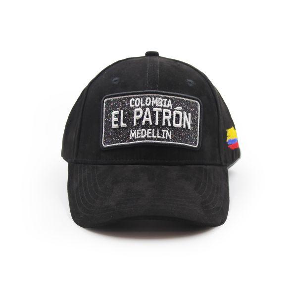 Black Suede Effect Colombia EL PATRON Inspired Cap