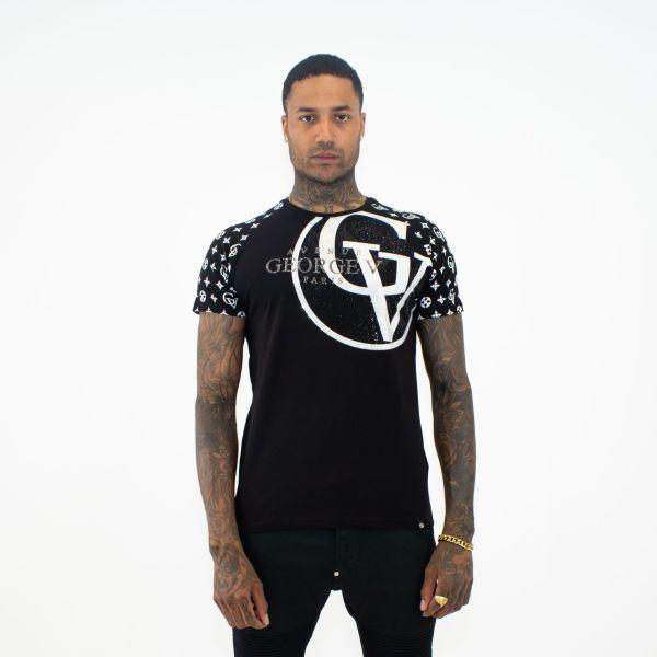 Black & White GV Print T-Shirt