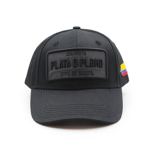 Black Colombia PLATA D PLOMO Inspired Cap