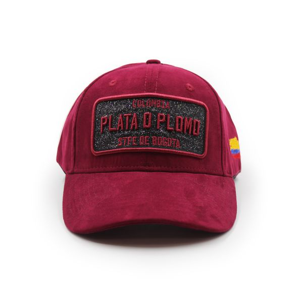 Burgundy Suede Effect Colombia PLATA D PLOMO Inspired Cap