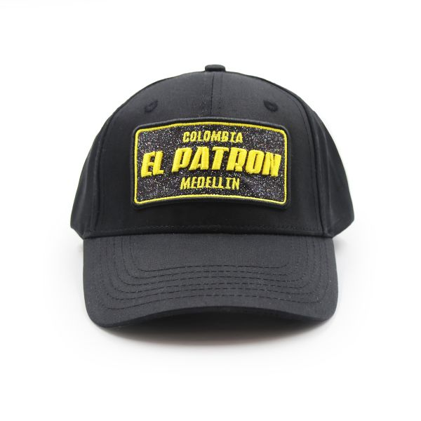 Black With Yellow Embroidering Colombia EL PATRON Inspired Cap