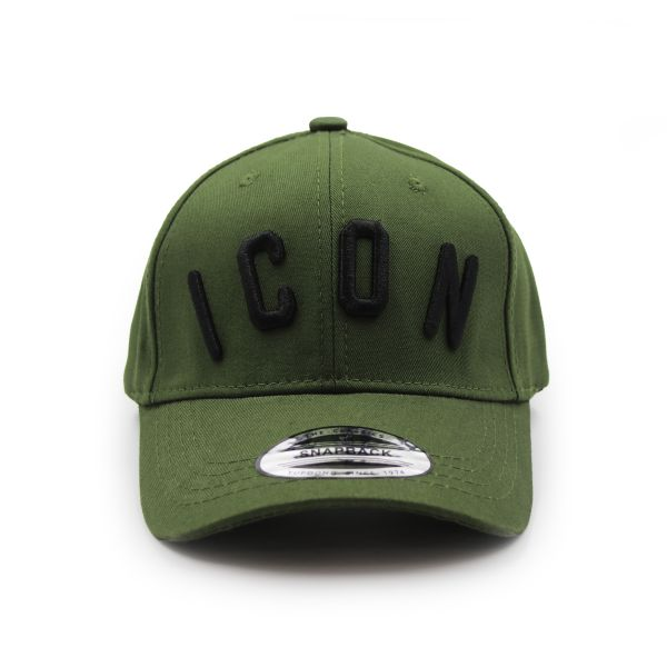 Khaki Inspired With Black Embroidering Cap