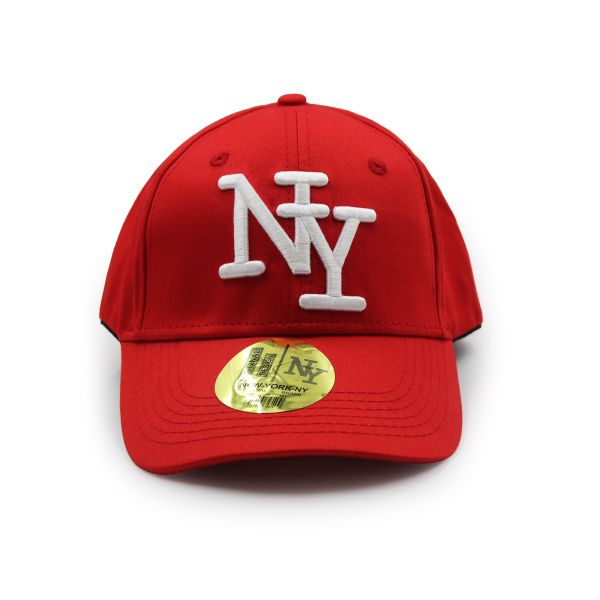Red NY Embroidered Cap