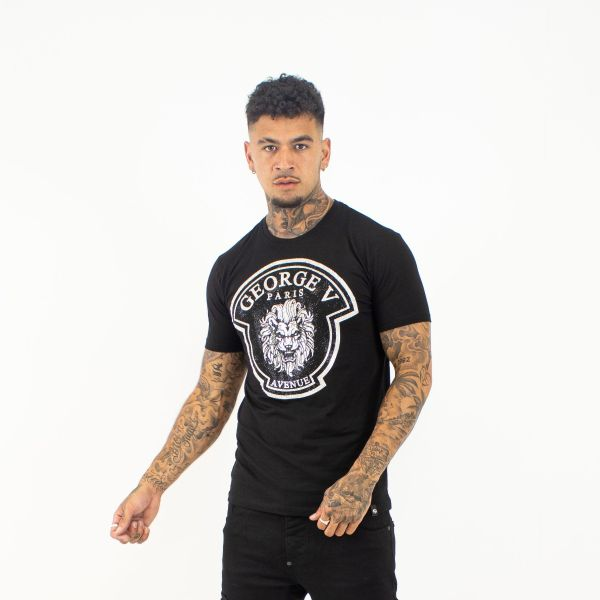 Black & Silver Lion Head T-shirt