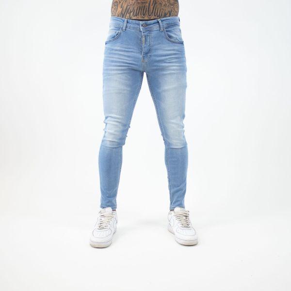 Light Washed Blue Denim Jeans