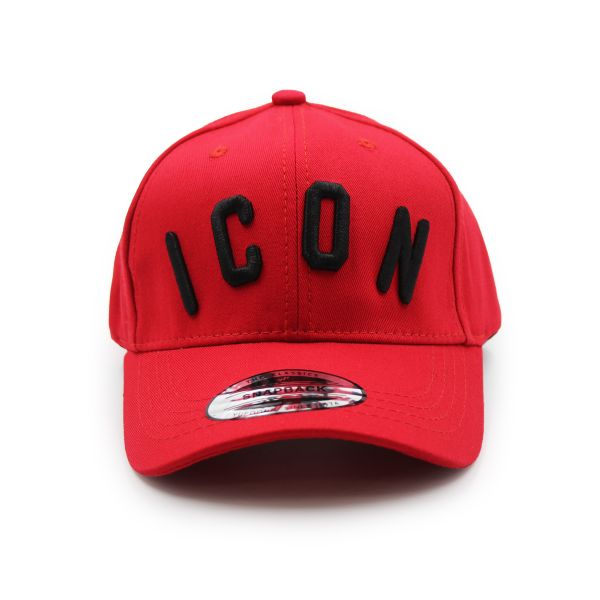 Red Inspired With Black Embroidering Cap