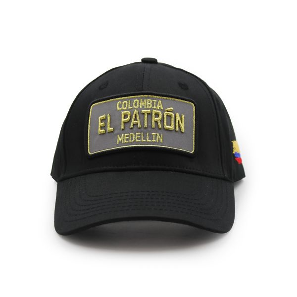 Black With Gold Embroidering Colombia EL PATRON Inspired Cap