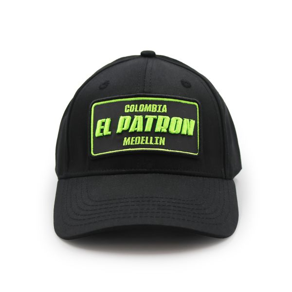 Black With Neon Embroidering Colombia EL PATRON Inspired Cap