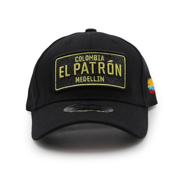Black With Gold And Black Embroidering Colombia EL PATRON Inspired Cap