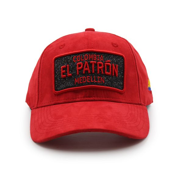 Red With Red Embroidering Colombia EL PATRON Inspired Cap