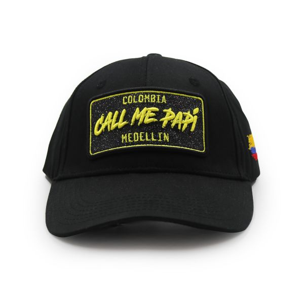 Black With Gold Embroidering Call Me Papi Inspired Cap