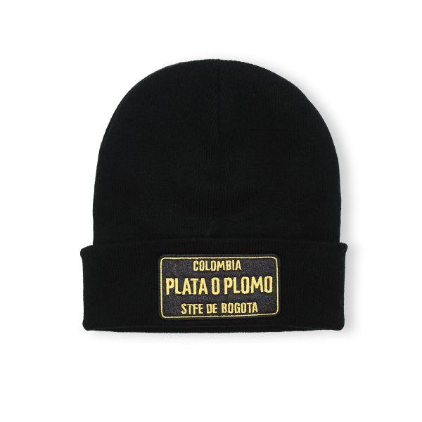 Black Colombia PLATA O PLOMO Beanie Hat