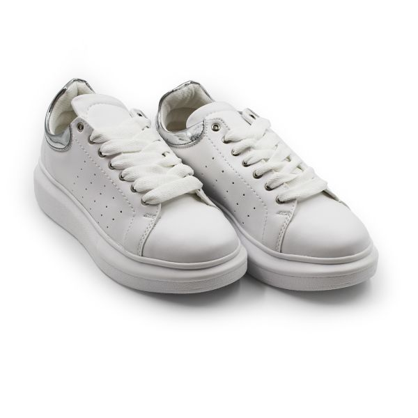 White And Silver Inspired Trainers