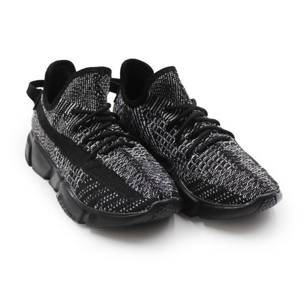 Black And Grey Scar Trainers