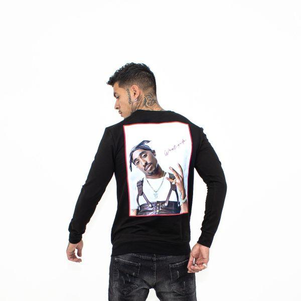Black 2-Pac All Eyes On Me Sweatshirt