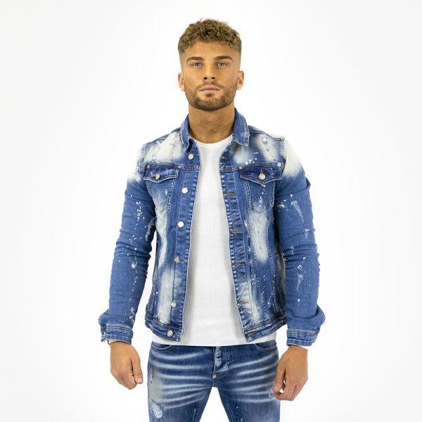 Blue Denim Faded Jacket