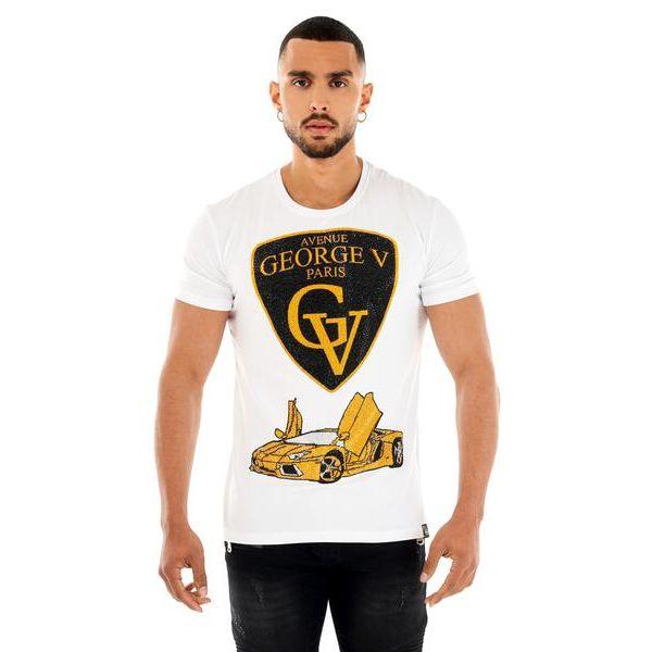 White Lambo Print T-Shirt